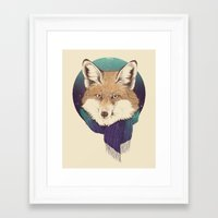 fox Framed Art Prints featuring Fox by Laura Graves