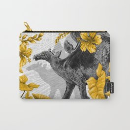 Jurassic Stegosaurus: Gold & Gray Carry-All Pouch