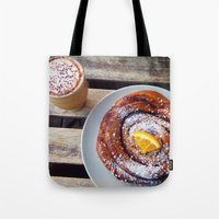 swedish Tote Bags featuring Swedish fika by Jeanette Perlie