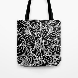 Black And White Line Drawing Illusion Art Tote Bag