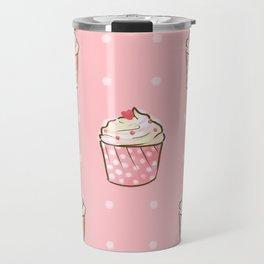 Pink cupcakes pattern Travel Mug