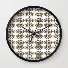 Cool Golden Lotus Pattern Wall Clock