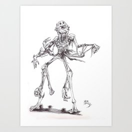 Undead corpse Art Print