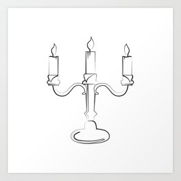 """ Halloween Collection "" - Candelabra Art Print"