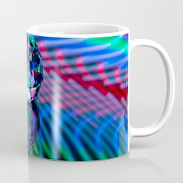 Colour of facets in glass. Coffee Mug