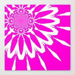 The Modern Flower Fuchsia Pink Canvas Print