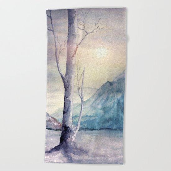 Winter Melody Beach Towel