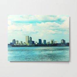 New Orleans Skyline Metal Print