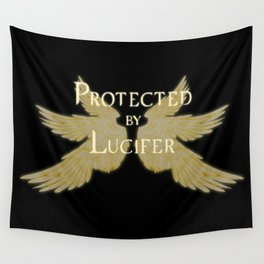Protected by Lucifer Light Wall Tapestry
