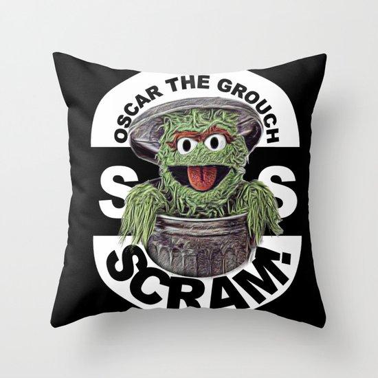 Scram! Throw Pillow