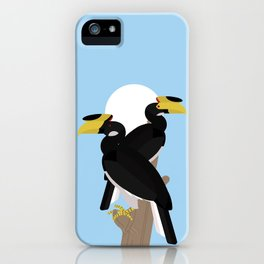 Malabar pied hornbills iPhone Case