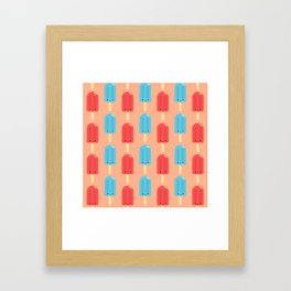 Cute Ice Pop Pattern Framed Art Print