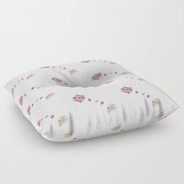 Flourish white pattern Floor Pillow