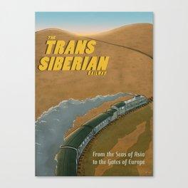 The Transsiberian Railway Travel Poster Canvas Print