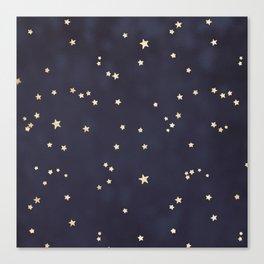 Gold Stars Canvas Print
