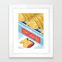 A night out in Seoul - Part 9 - Bungeoppang (fish shapes pastries) Framed Art Print