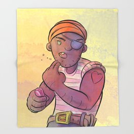 Stowaway Pirate Throw Blanket