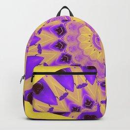 Bold Purple and Yellow Mandala Backpack