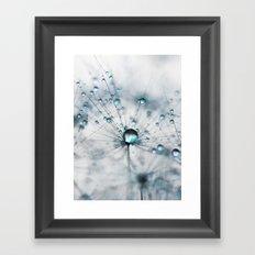 dandelion blue Framed Art Print