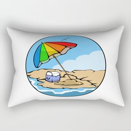 Summer Umbrella Rectangular Pillow