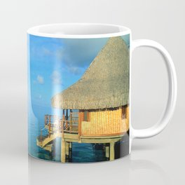 Over-the-Water Island Bungalow Coffee Mug