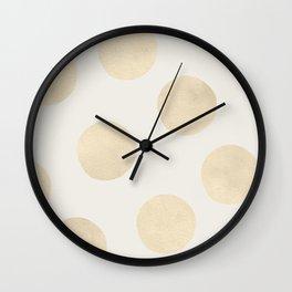 Gold Polka Dots Wall Clock