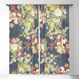 Floral Tribute to Louis McNeice Blackout Curtain