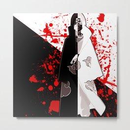 uchiha black white Metal Print