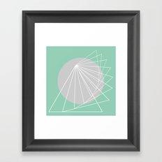Everything belongs to geometry #5 Framed Art Print