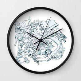 The Little Mermaid (Wonderful Mess Series) Wall Clock