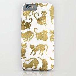 Cat Positions – Gold Palette iPhone Case