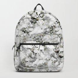 Smoky White Flower Backpack