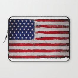 Grunge American flag II Laptop Sleeve