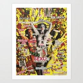 La figura femenina como objeto opresivo en revistas de moda. Art Print