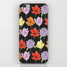 dark crowded floral iPhone Skin