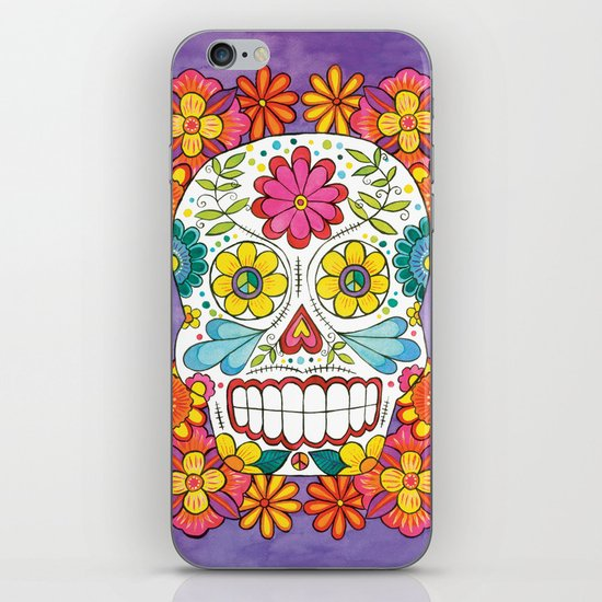 Day of the Dead Sugar Skull iPhone & iPod Skin