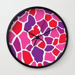 Giraffe Print Wall Clock