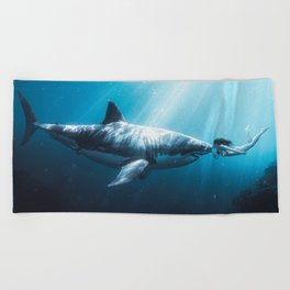 Shark Kiss (Wide) Beach Towel