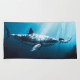 Shark Kiss (Wide) Beach Towel