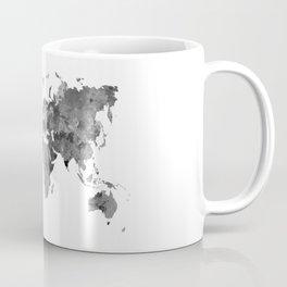 World map in watercolor gray Coffee Mug
