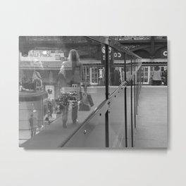 Reflections on a Footbridge #27 Metal Print