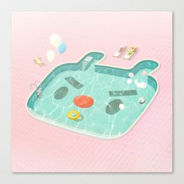 Poolday Canvas Print