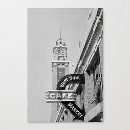 West Side Market B&W Canvas Print