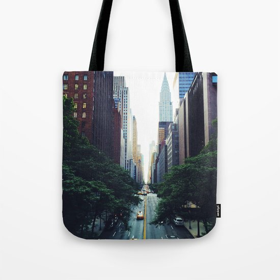 New York City Street Skyscapers Travel Wanderlust #tapestry Tote Bag