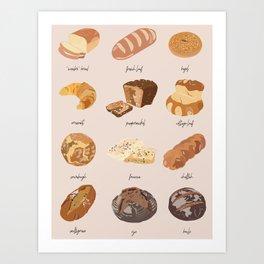 Carb Chart Art Print