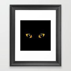 Halloween Cat's Eyes Framed Art Print