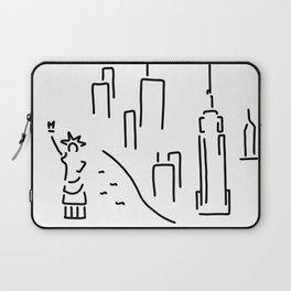 new York the Statue of Liberty skyscraper Laptop Sleeve