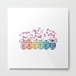 Easter word on eggs Metal Print