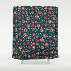 Watercolor Tomato Pattern Shower Curtain