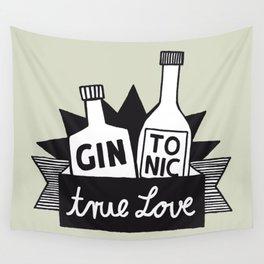 Gin Tonic True Love Wall Tapestry